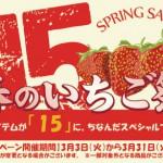 3月のキャンペーンはズバリッ!!【春のいちご祭】旬のアイテムが『15』にちなんでスペシャルプライスに!!!!
