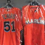 本日2安打❢❢大活躍中のマーリンズ イチロー選手のオーセンティックジャージの新カラーが入荷致しました☆