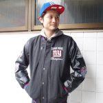 NFL新作ジャケット!レザー調でメインがウールで高級感MAX♪めちゃくちゃカッコいい!暖かい!