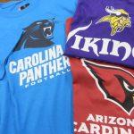 NFLの新商品がたくさーん入荷しました~!!!Tシャツや秋に向けてパーカーやスウェットパンツあります☆なんとNCAAレプリカジャージも!!!!